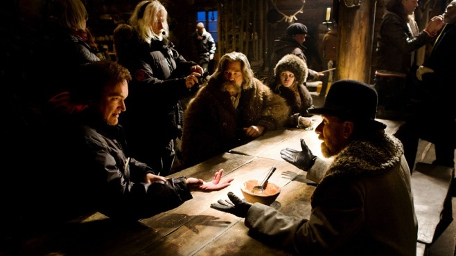 The Hateful Eight: Quentin Tarantino, Cast, Crew © Universum Film GmbH