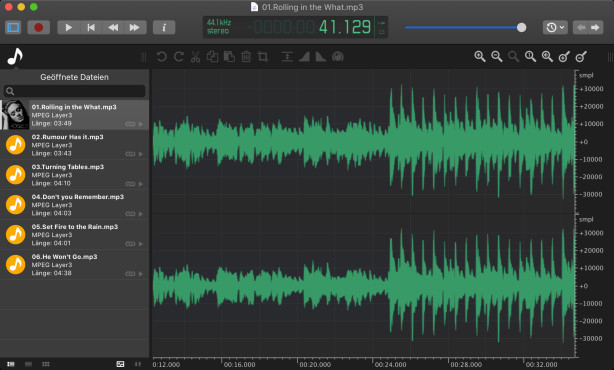 Screenshot 1 - Ocenaudio (Mac)