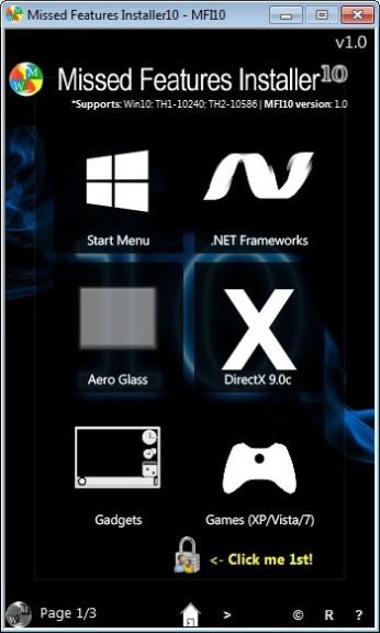 Screenshot 1 - Missed Features Installer (Windows 10)