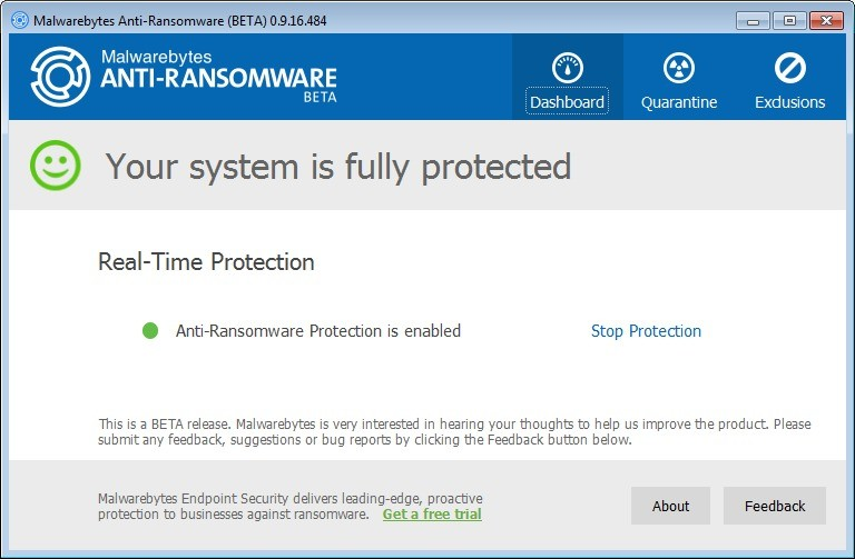Screenshot 1 - Malwarebytes Anti-Ransomware