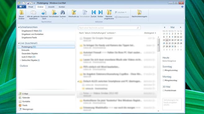 Platz 28: Windows Live Mail (neu) ©COMPUTER BILD