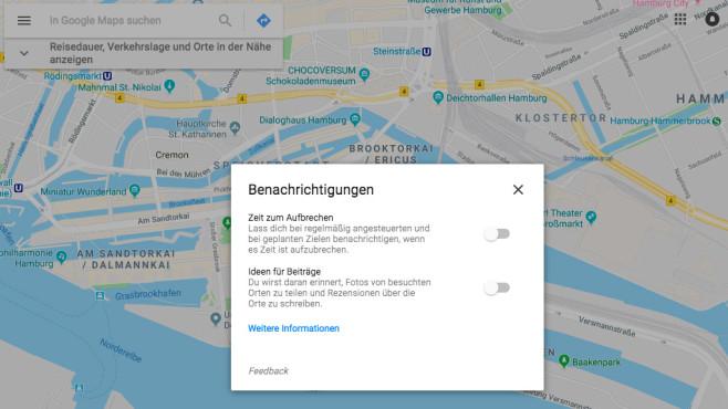 Google Maps: Erinnerungsfunktion aktivieren ©COMPUTER BILD