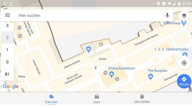 Google Maps: Indoor-Karten verwenden ©Google