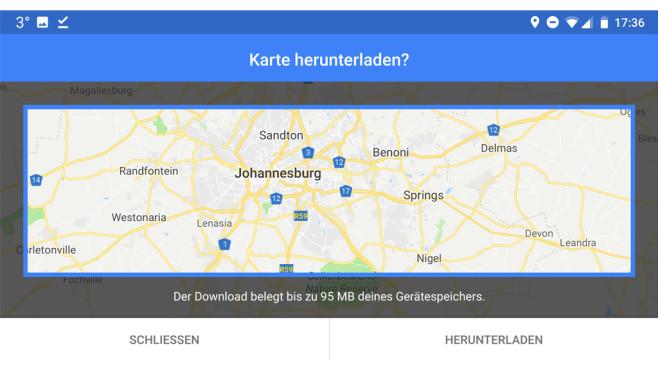 Google Maps: Karten offline speichern ©Google
