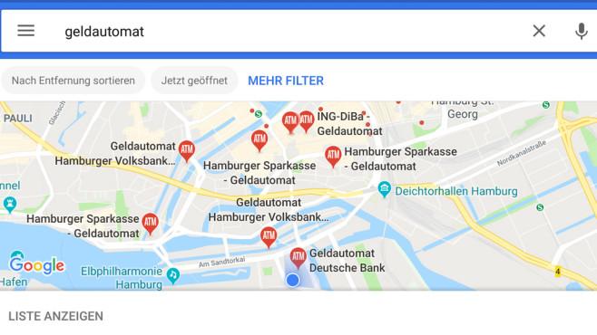 Google Maps: Sonderziele suchen ©Google
