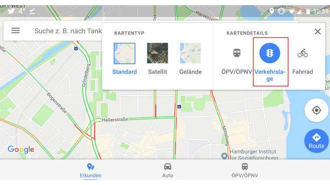 Google Maps: Verkehrslage: Wo ist gerade Stau? ©Google