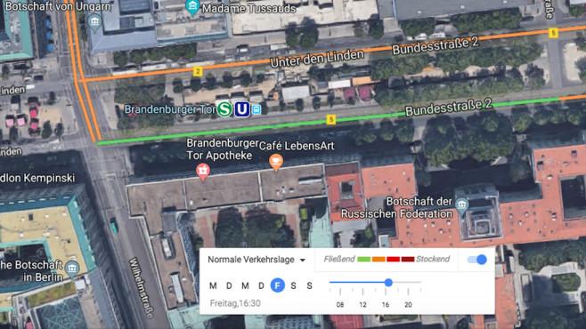 Google Maps: Verkehrslage: Wo ist morgen Stau? ©Google