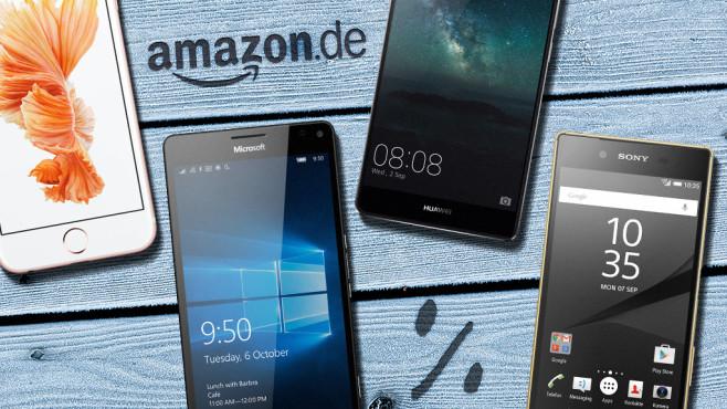 Amazon: 20 beliebte Smartphones im Winter-Sale©Apple, Samsung, Huawei, Sony, Amazon, ©istock.com_VisualCommunications