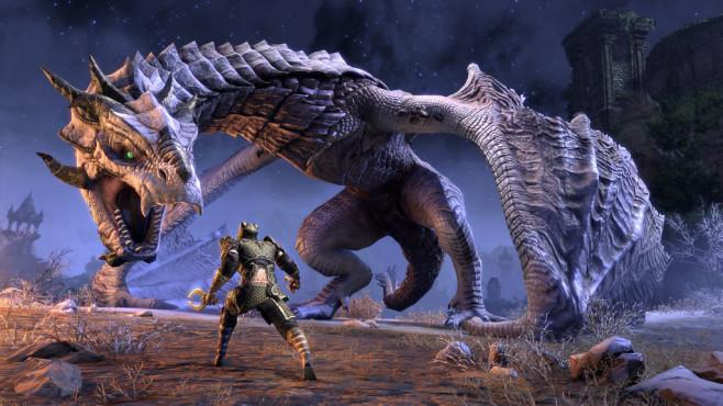 """Bethesda auf der E3 2019: Alle Spiele der Pressekonferenz Im E3-Trailer zu """"Elder Scrolls Online"""" gab es bereits fulminante Drachen-Action zu sehen.©Bethesda"""