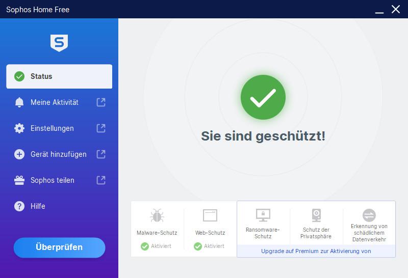 Screenshot 1 - Sophos Home Free Antivirus