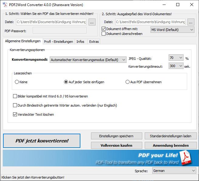 Screenshot 1 - 7-PDF2Word