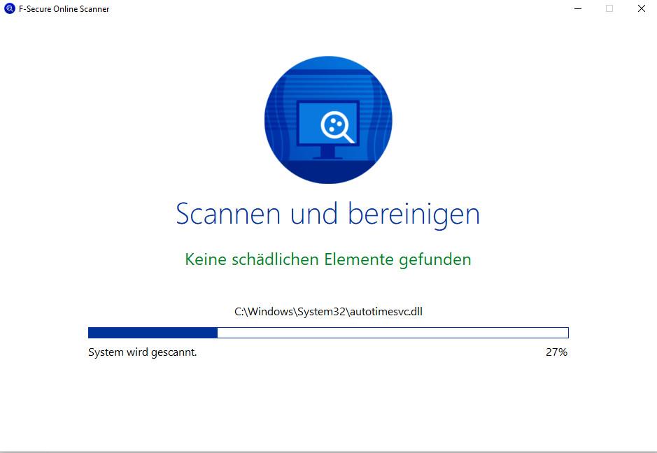 Screenshot 1 - F-Secure Online Scanner