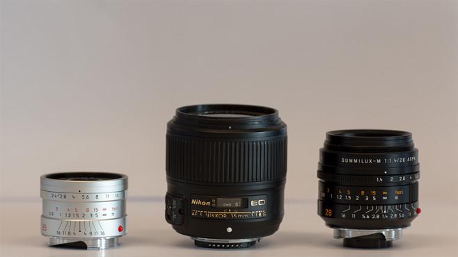 Leica M-Objektive im Größenvergleich©COMPUTER BILD