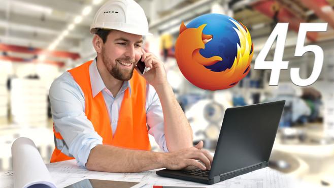Firefox 45: Mozilla-Browser im Praxis-Check©Industrieblick, Mozilla