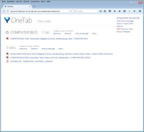 OneTab für Firefox
