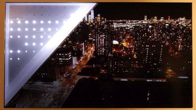 Licht und Schatten: Philips-TV kann hell und dunkel Der aufgeschnittene Fernseher zeigt die Arbeitsweise vom Local Dimming: Die LEDs hinter dem LCD-Panel sind nur dort hell, wo das Bild hell sein soll. An anderen Stellen bleiben sie dunkel und verhindern das sonst bei LCD-TVs typisch aufgehellte Schwarz.©COMPUTER BILD