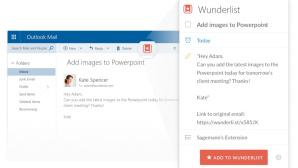 Wunderlist für Outlook©Microsoft