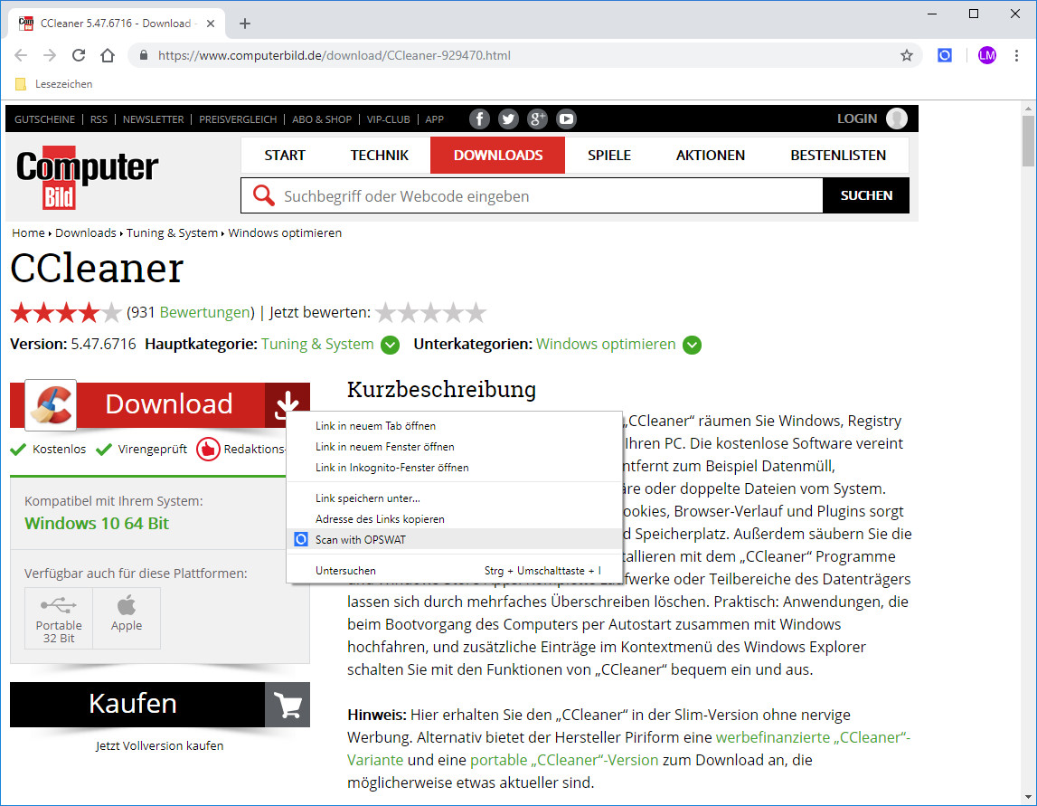 Screenshot 1 - File Security für Chrome