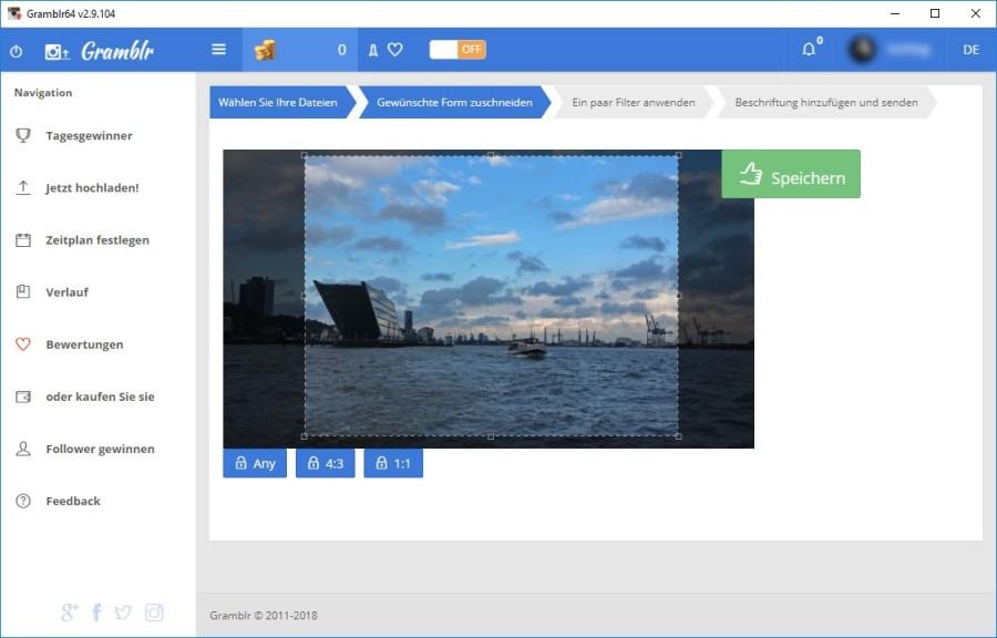 Screenshot 1 - Gramblr