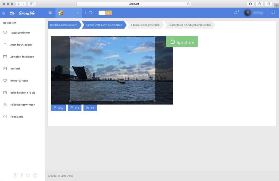 Screenshot 1 - Gramblr (Mac)