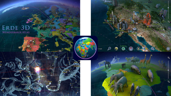 Erde 3D – wunderbarer Atlas ©3Plansoft