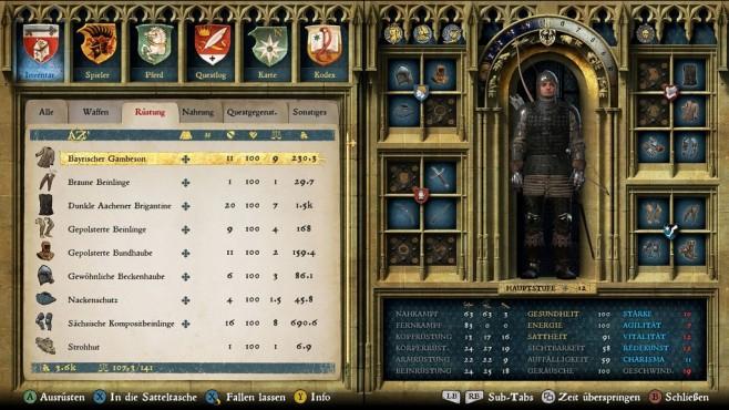 Screenshot Kingdom Come - Deliverance: Inventar©Warhorse Studios
