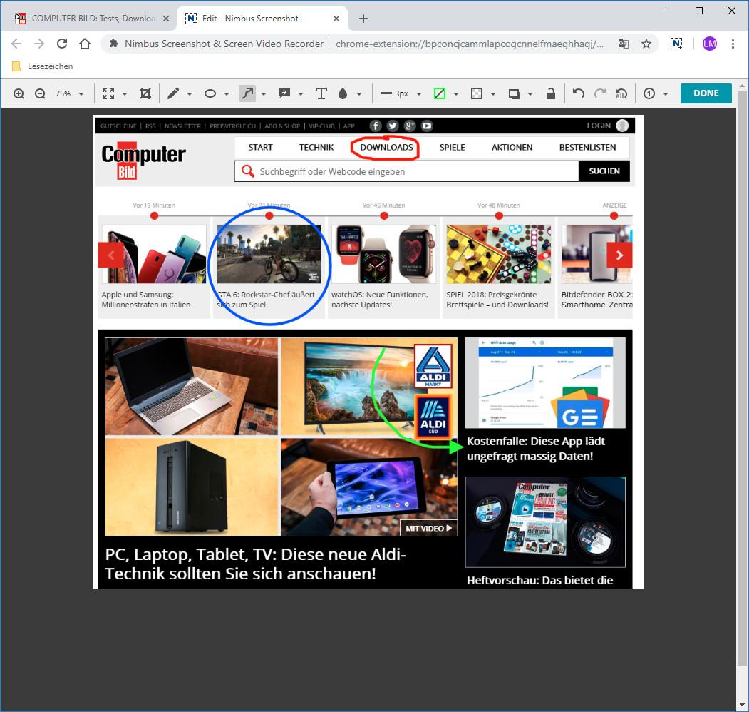 Screenshot 1 - Nimbus Screenshot & Screen Video Recorder für Chrome