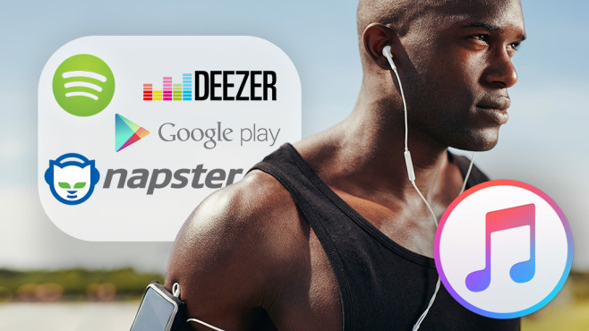 Apple Music läuft gegen Spotify, Deezer & Co.©istock.com/Jacob Ammentorp Lund, Appel, Spotify, Deezer, Napster,  Google