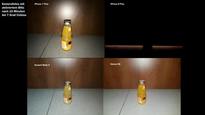 Apple iPhone 7, 8, Huawei, Samsung: Blitz-Vergleich©COMPUTER BILD