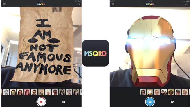 MSQRD – Live-Filter & Gesichtstausch für Video-Selfies ©Masquerade Technologies, Inc