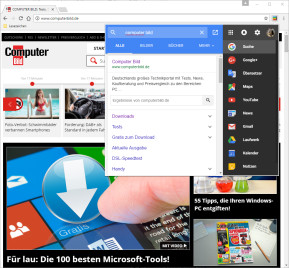 Black Menu für Google Chrome