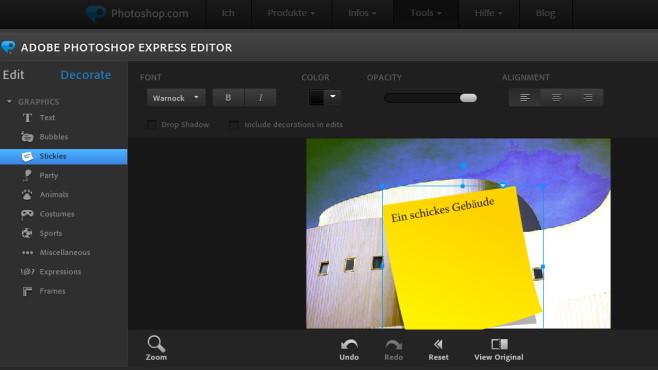 Adobe Photoshop Express Editor: Schlanke Fotomanipulation im Browser ©COMPUTER BILD