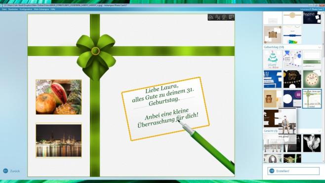 Ashampoo Photo Card 2 – Kostenlose Vollversion: Interessantes ansprechend beschriften ©COMPUTER BILD
