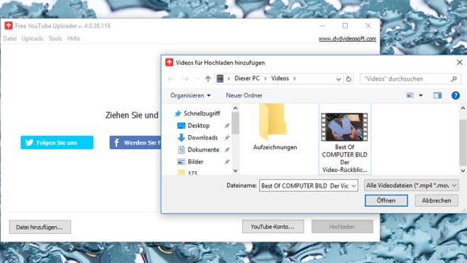 Free YouTube Uploader: Diashows ins Web laden ©COMPUTER BILD