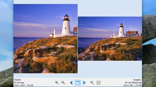 Light Image Resizer: Fotomaße anpassen ©COMPUTER BILD
