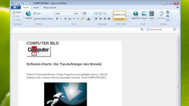 Open Live Writer: Inhalte auf Blogger veröffentlichen ©COMPUTER BILD