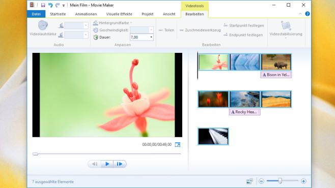 Windows Movie Maker: WMV-Diashows erzeugen ©COMPUTER BILD