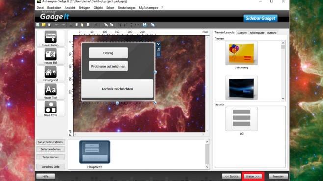 Gadget-Datei erzeugen (2) ©COMPUTER BILD
