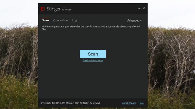 McAfee Labs Stinger: Malware aufspüren und beseitigen ©COMPUTER BILD