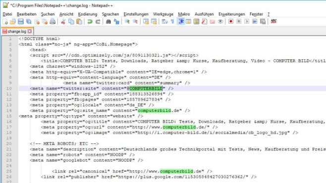 Notepad++: Programmiereditor mit Komfortfunktionen ©COMPUTER BILD