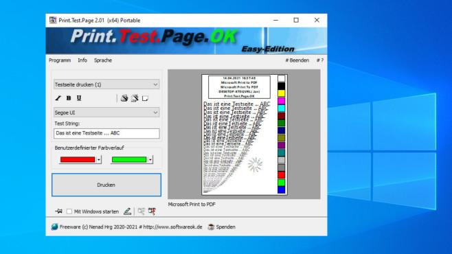Print.Test.Page.OK: Testseiten drucken ©COMPUTER BILD