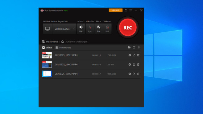 iFun Screen Recorder Free: Bildschirm aufnehmen ©COMPUTER BILD