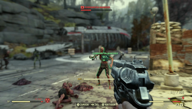 """Fallout 76: Closed-Beta, Perks, Trailer, Release-Termin – neue Infos Der bekannte VATS-Zielmodus läuft in """"Fallout 76"""" in Echtzeit ab, bleibt aber eine große Hilfe.©Bethesda"""