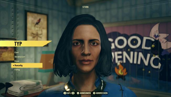 Fallout 76: Closed-Beta, Perks, Trailer, Release-Termin – neue Infos Im Charakter-Editor erschaffen Sie ihre eigene Spielfigur und verändern deren Aussehen.©Bethesda