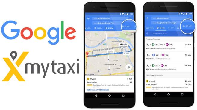 Google Maps mit mytaxi©Google