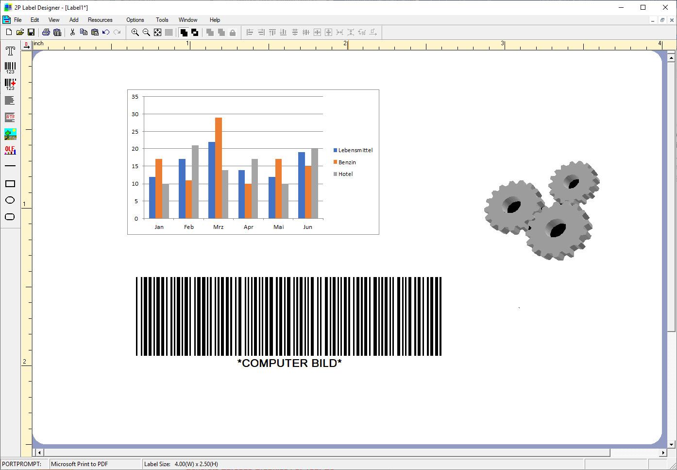 Screenshot 1 - 2P Label Designer
