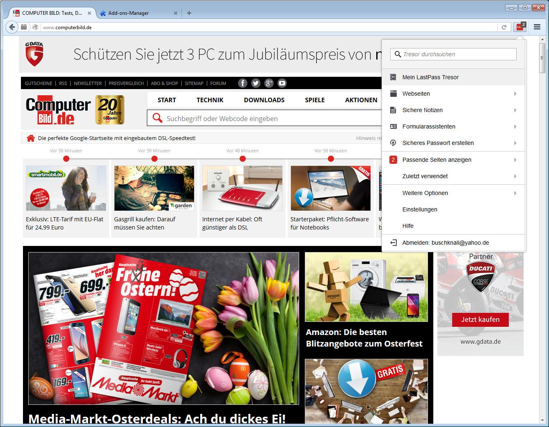 Screenshot 1 - LastPass für Firefox