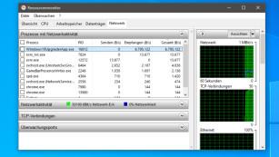 Windows 7/8/10: Offene Netzwerkverbindungen anzeigen©COMPUTER BILD