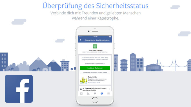 Facebook Safety Check © Facebook Inc.