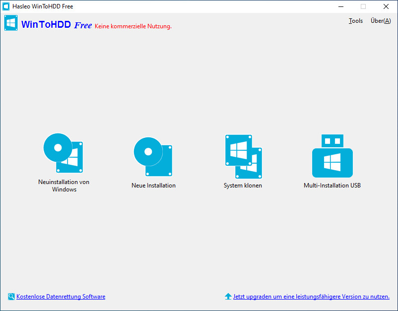 Screenshot 1 - WinToHDD